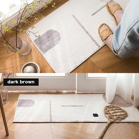 ラグマット&カーペット 長方形 洗える 厚手 ふわふわ 滑り止め 北欧 ベージュ キュート 可愛い おしゃれ 寝室 MCH-A021 MEDIK