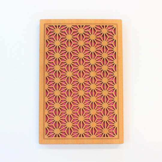 木でできた御朱印帳 「牡丹」