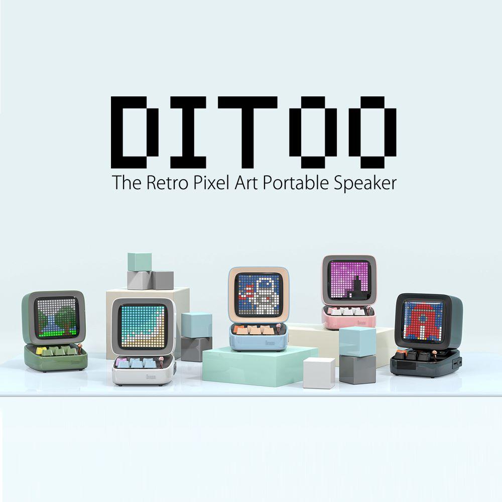 レトロパソコン型スピーカー「DITOO ホワイト」