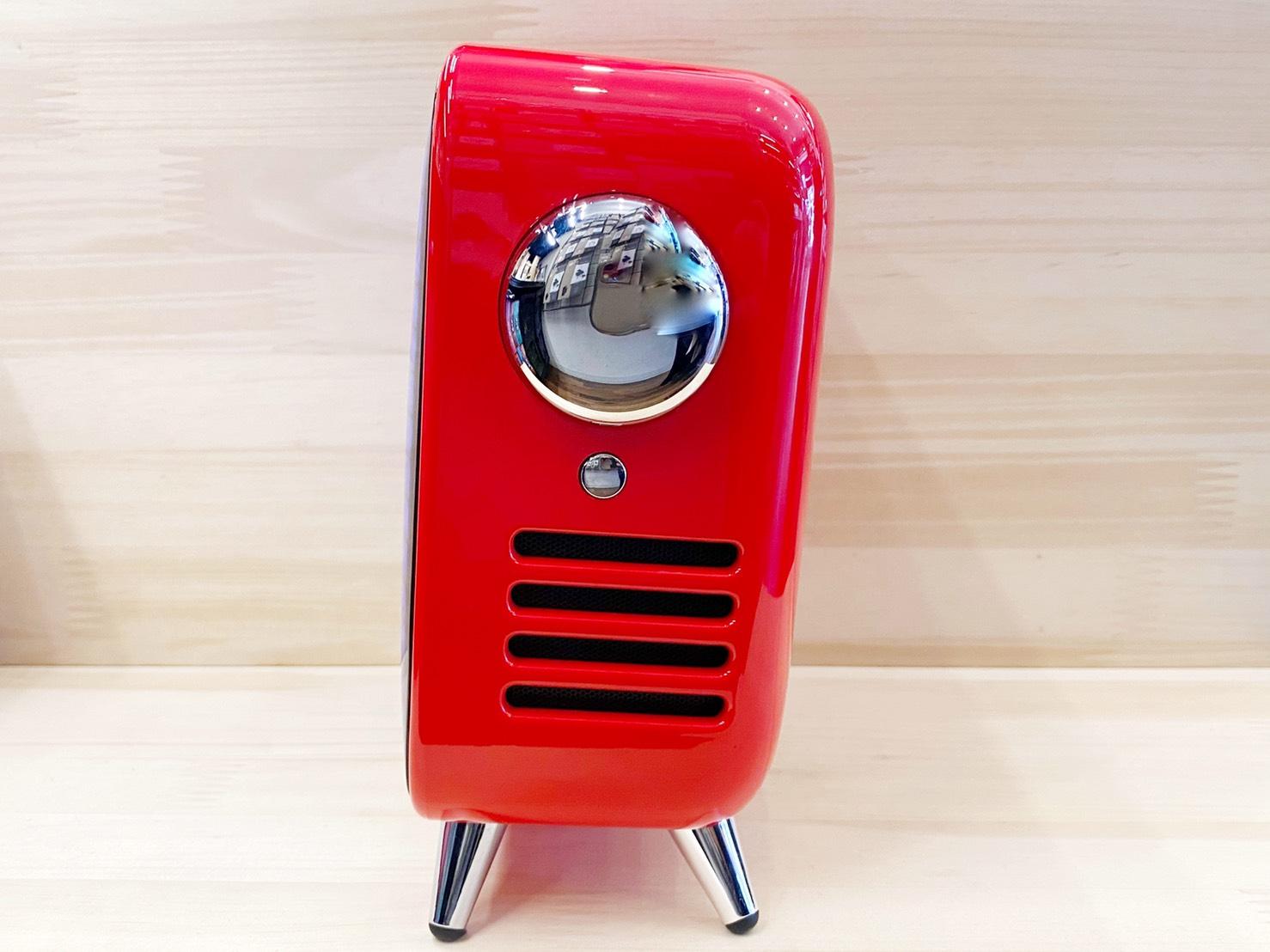 レトロテレビ型スピーカー「TIVOO MAX レッド」