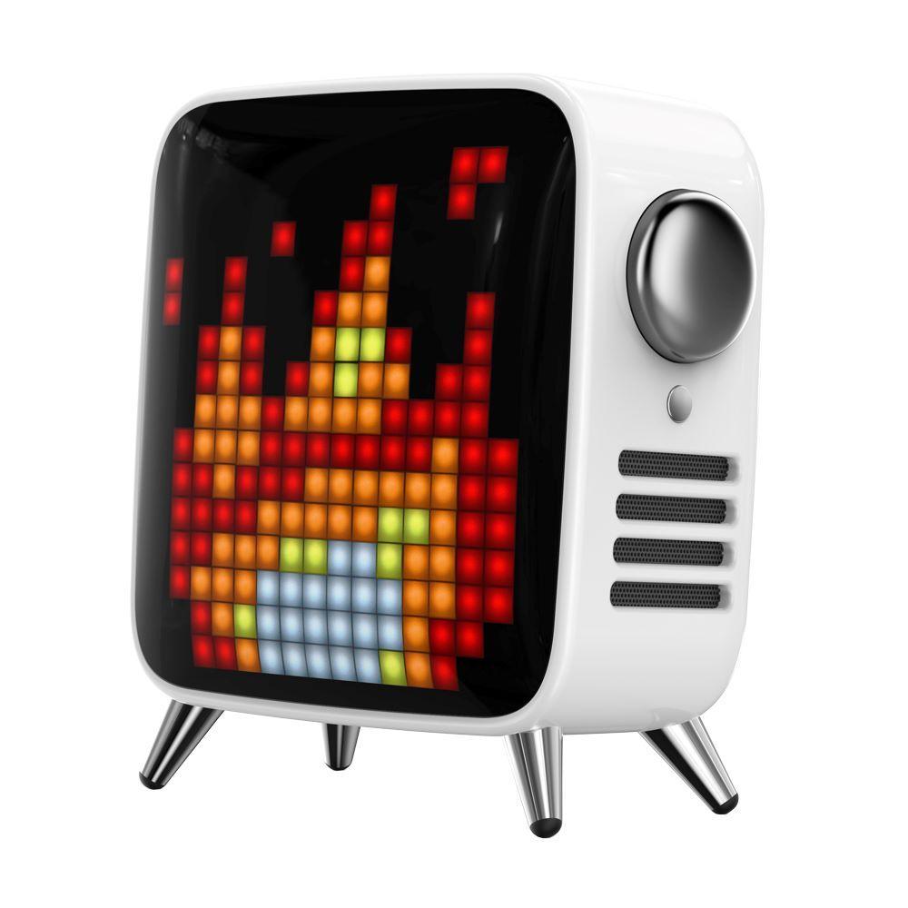 レトロテレビ型スピーカー「TIVOO MAX ホワイト」