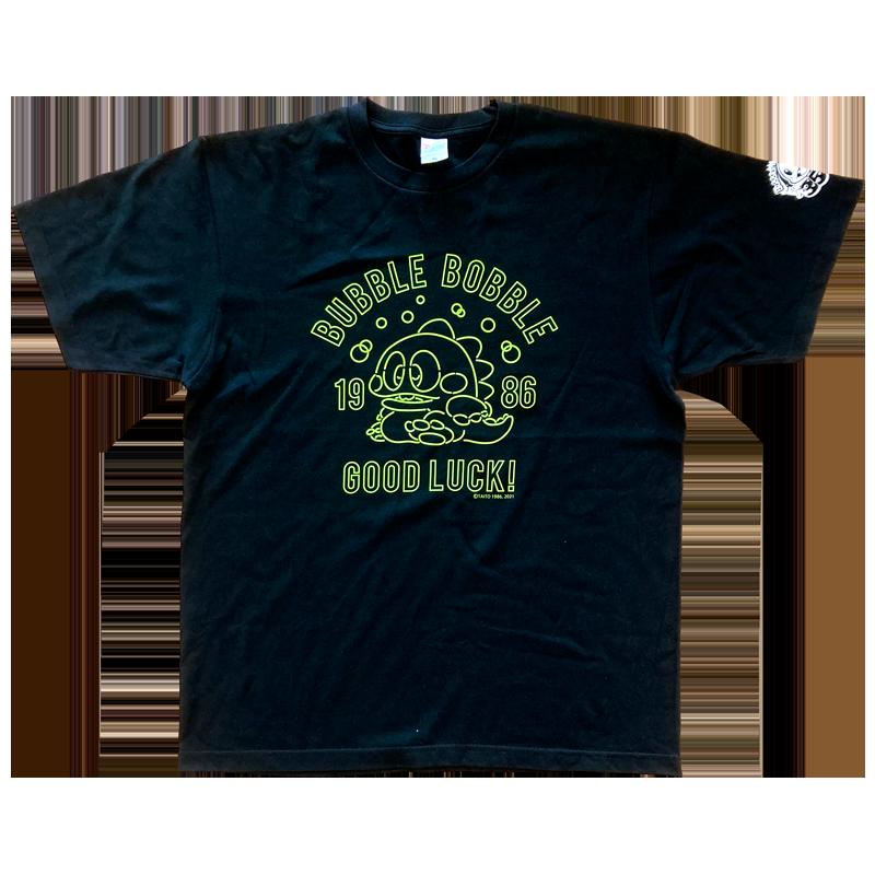 バブルボブル 35th Tシャツ ネオンバブルン ブラック