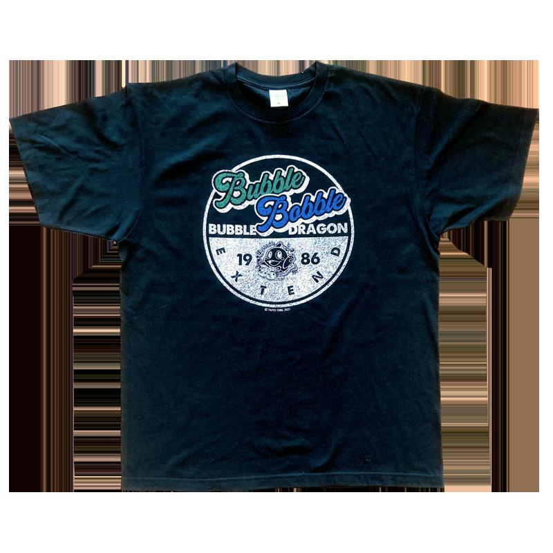バブルボブル 35th Tシャツ サークル ブラック