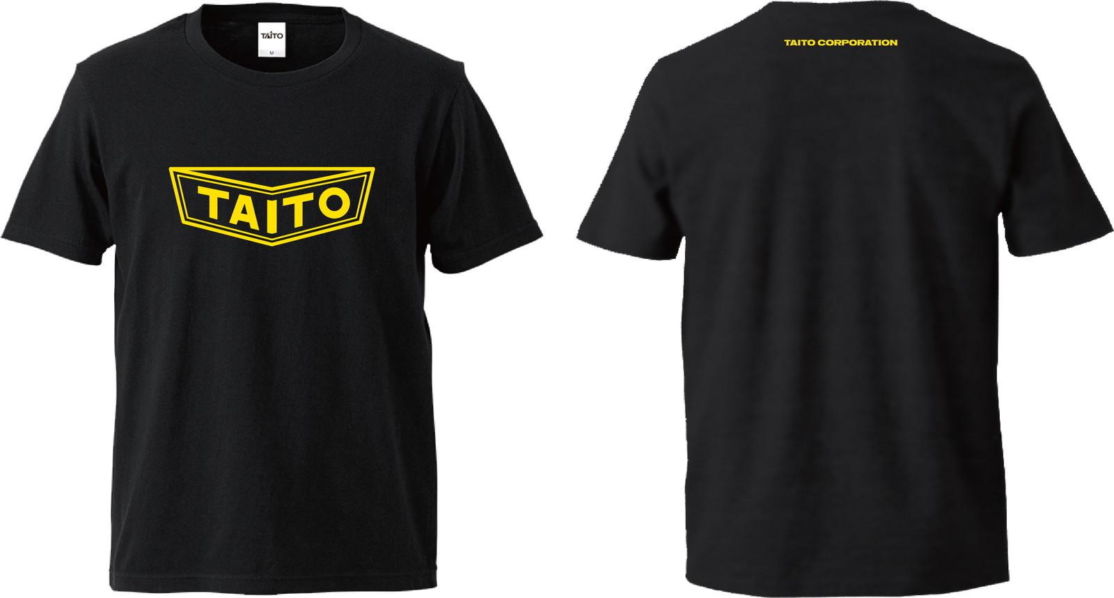 【SALE】 タイトー 旧ロゴ Tシャツ ブラック/イエロー