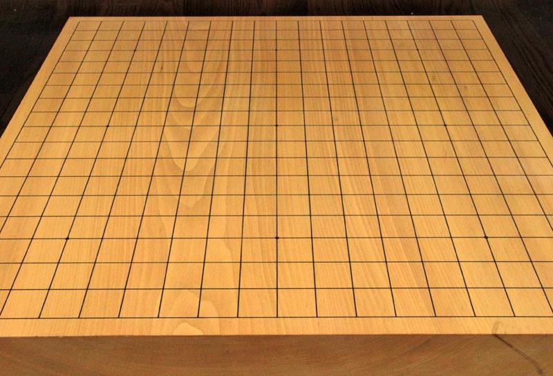 本桂3寸木裏足付碁盤 【長期在庫訳あり処分品・80330】