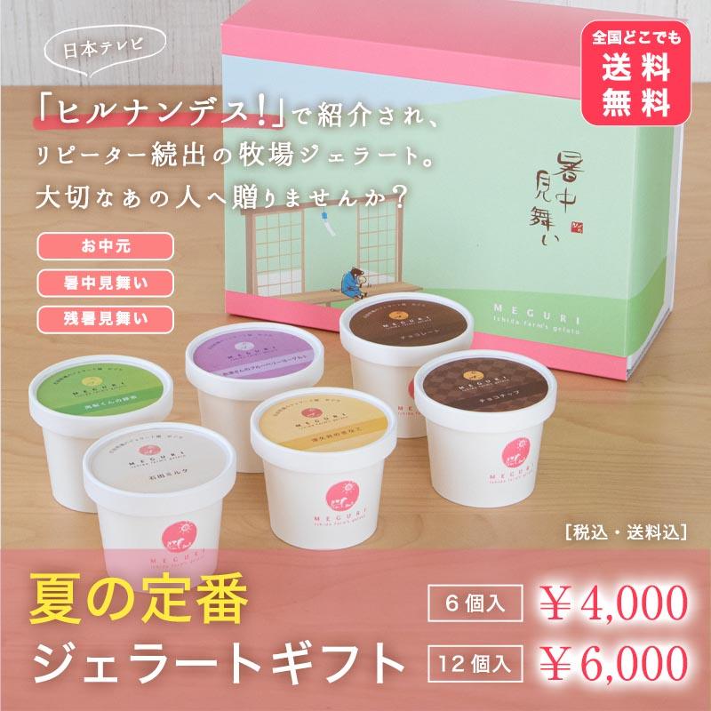 【送料無料】夏の定番ジェラートギフト[6個入・12個入]