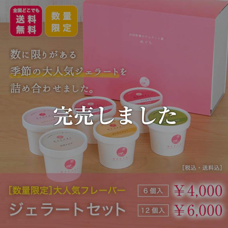 【送料無料】大人気ジェラートセット[6個入・12個入]