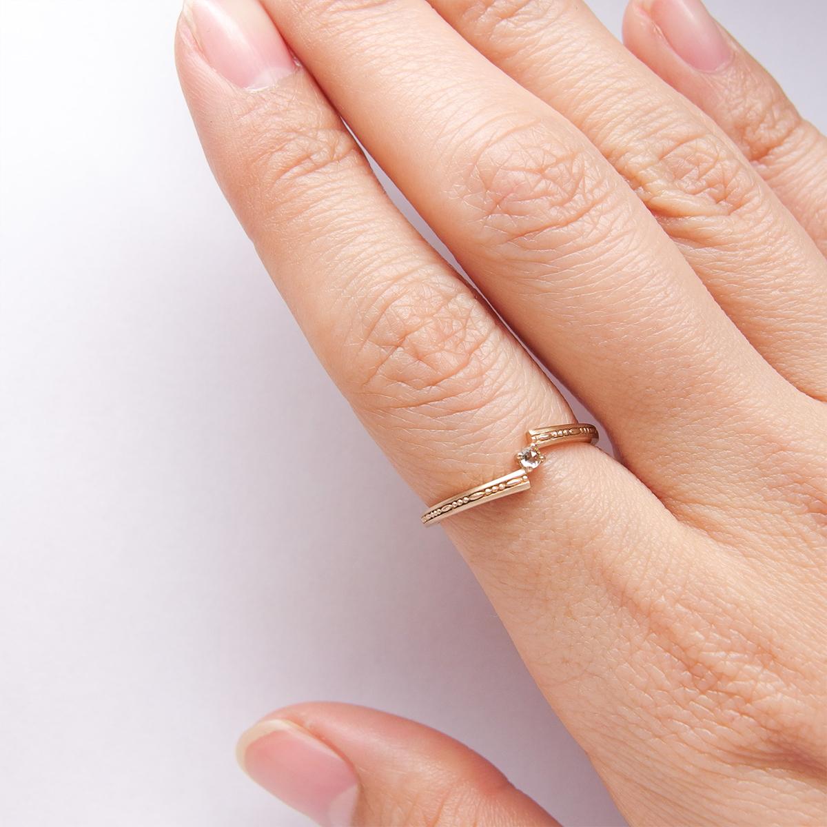 ダイヤモンドリング(アーム:ホップ)