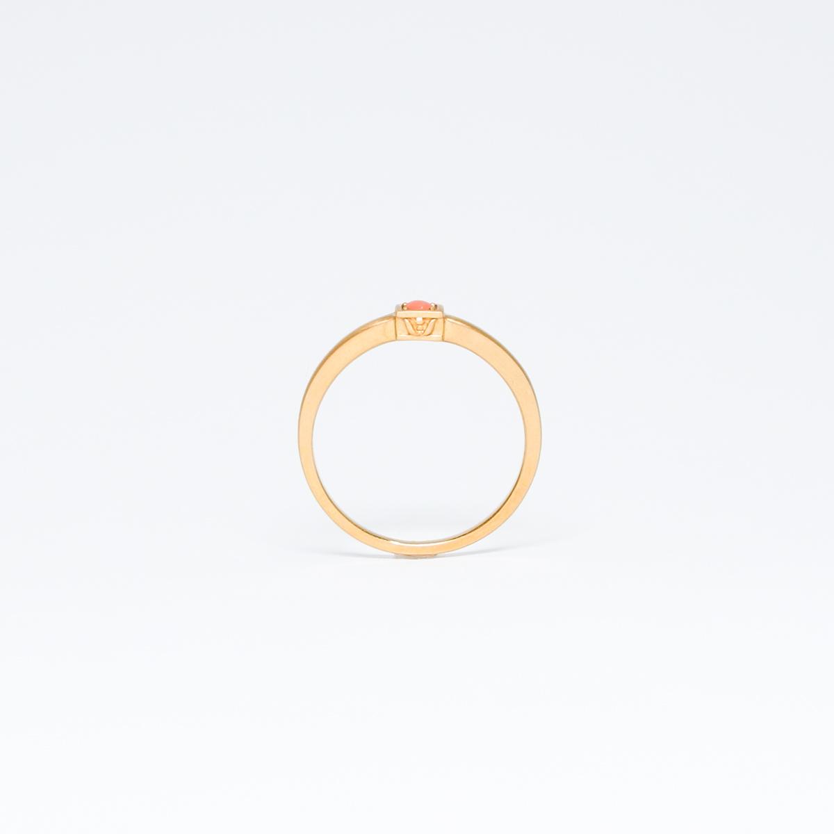 K18 ピンクサンゴリング [order]
