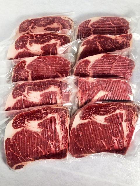 牛ロースステーキ用 <br>10枚  (豪州産)<br>(テキサススパイス付き)