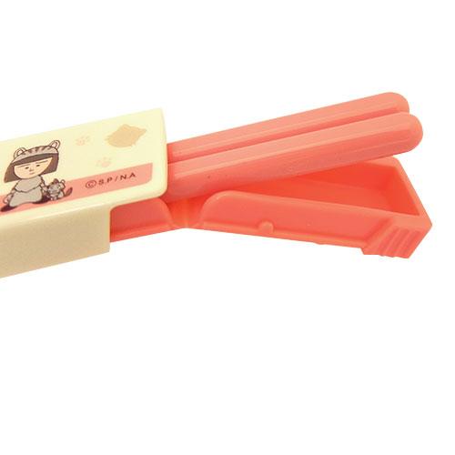 ちびまる子にゃん 箸・箸箱セットS スクエア型/18cm