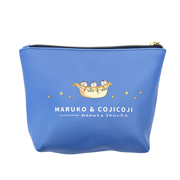 MARUKO & COJICOJI ILLUSTRATION MOMOKO SAKURA フルカラーポーチ 船