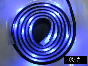 点滅、点灯、防水 「 リモコン付 流れるLEDテープライト1m 」 ACアダプタ、両面テープ付