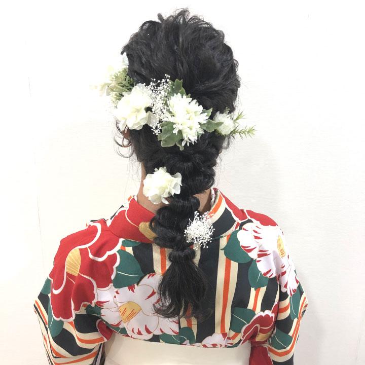 【全4色】紫陽花・かすみ草の髪飾り/ホワイト・ピンク・オレンジ・イエロー[fc203]