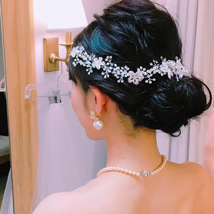 【Special】ブライダルヘッドドレス 小枝 ボタニカル[ha218]