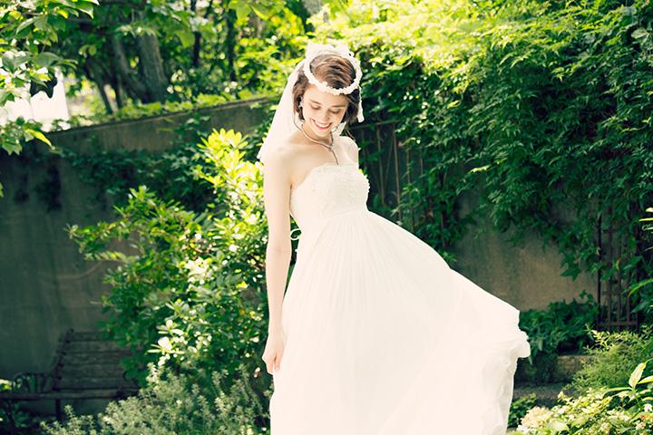 【即納】ビーズ刺繍の楊柳ウェディングドレス[ds011]