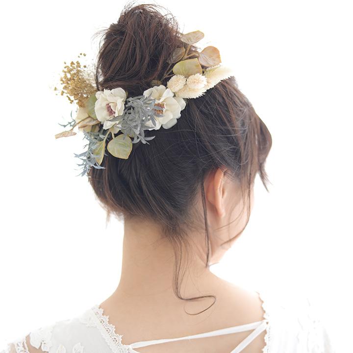 【NEW】ローズマリーとかすみ草のフラワーヘッドドレス[fc248]