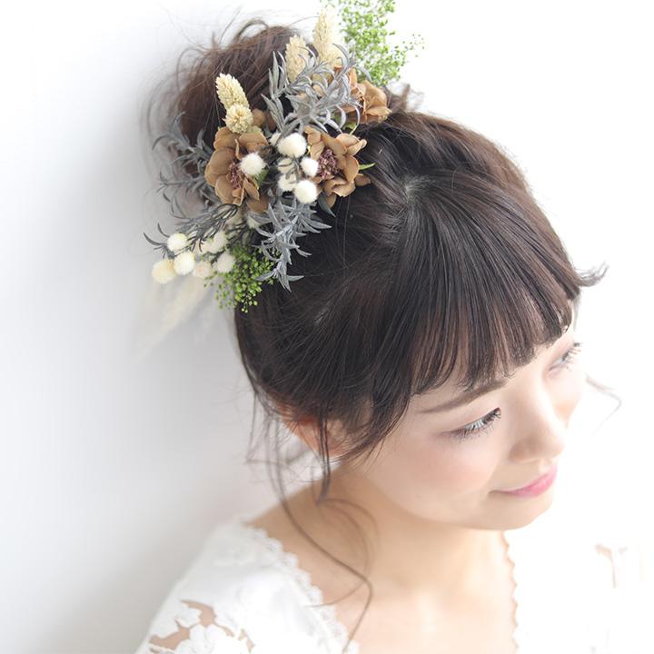 【NEW】アグロスティスとかすみ草のフラワーヘッドドレス[fc249]