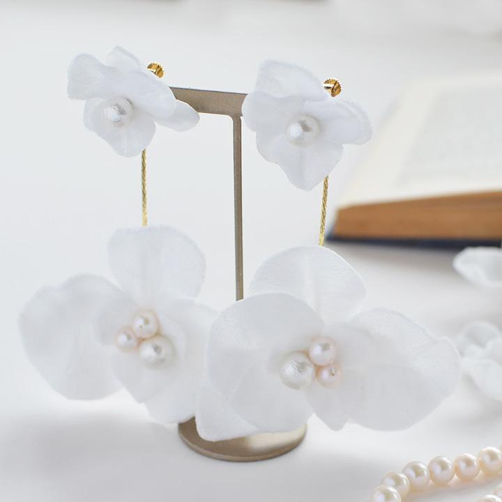 【flowerpetal/ORCHID】胡蝶蘭のイヤリング[ac163]