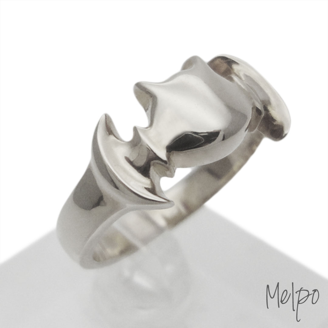 Bat Ring Silver