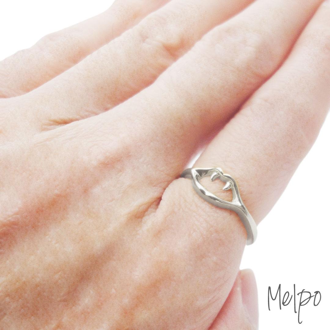 Fang Small Ring Silver