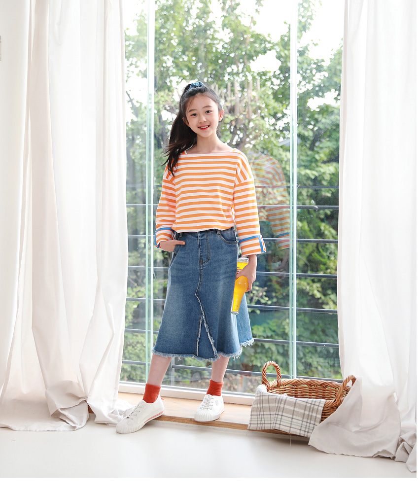[100cm-160cm]スクエアSTテーピング長袖tシャツ