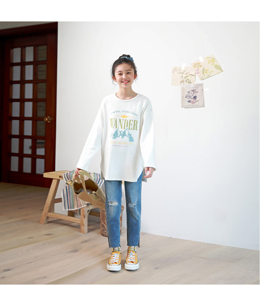 [100cm-160cm]ワンダーマウンテン長袖ロングtシャツ