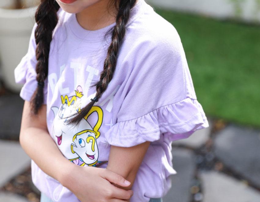 ポッツ&チップフリル袖Tシャツ