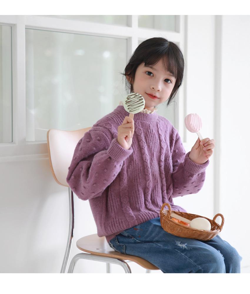 [100cm-150cm]トッピング長袖ニット