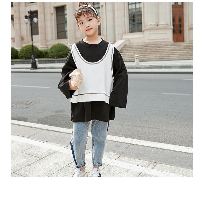 [110cm-170cm]レイヤード 長袖Tシャツ