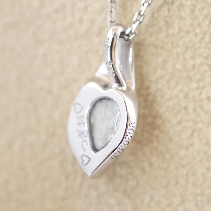 [遺骨ペンダント・樹脂タイプ完全防水]  メモリアルジュエリー LC01-P (Pt900×誕生石) セミオーダー・オーダーメイド