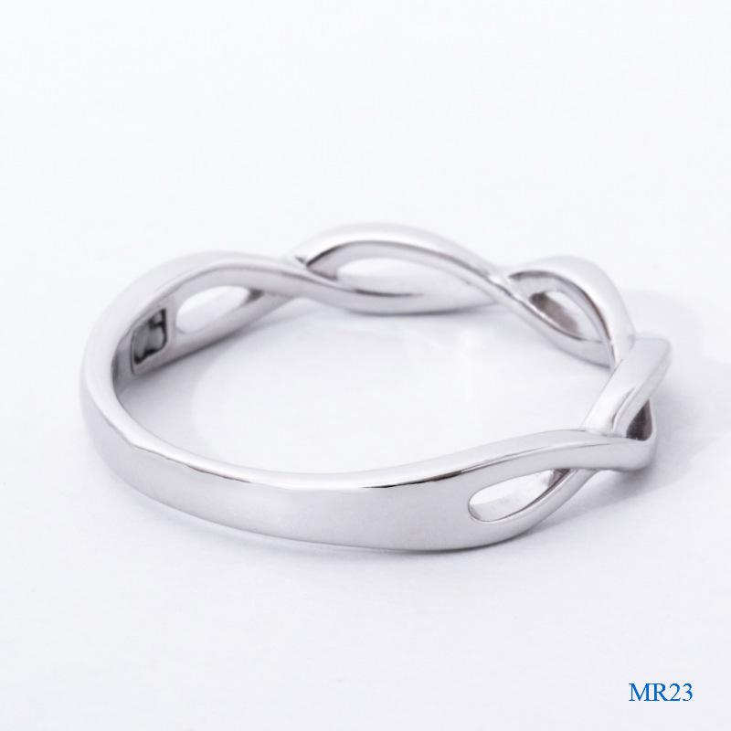 セミオーダーメモリアルリング【MR23/K18WG ホワイトゴールド】指輪,遺骨リング,完全防水
