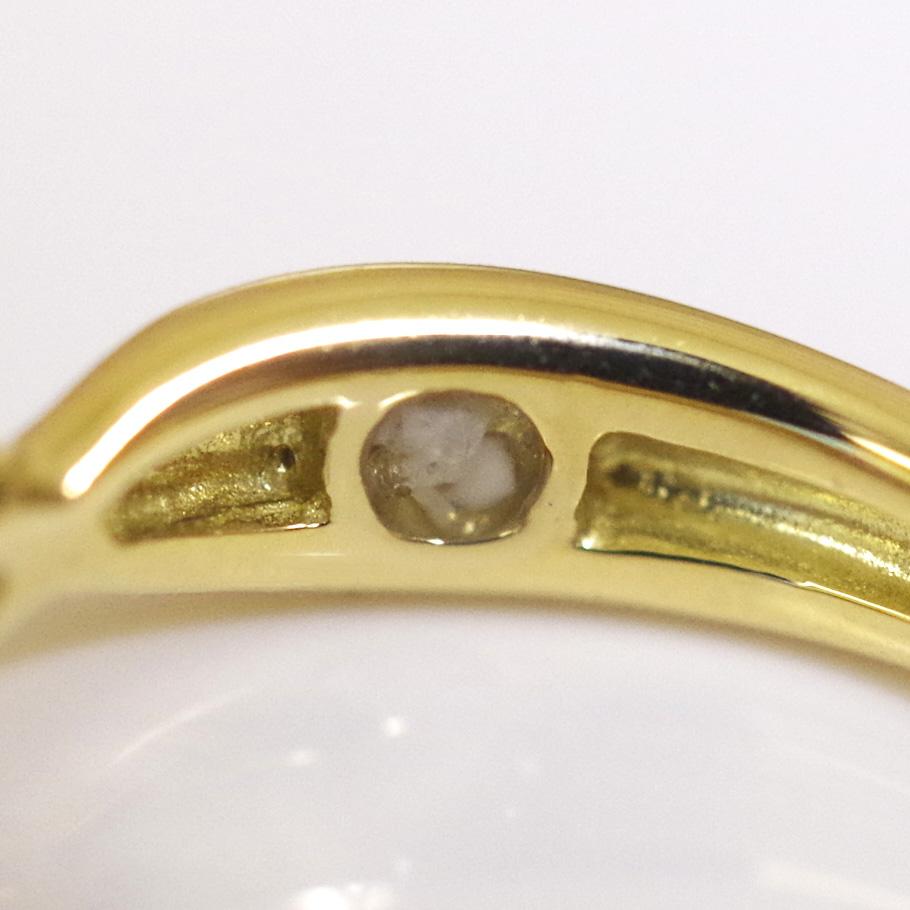メモリアルリングMR17 地金:K18YG (18Kイエローゴールド)〜遺骨リング ,完全防水の指輪〜