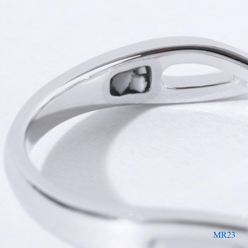 セミオーダーメモリアルリング【MR23/Pt900】指輪,遺骨,完全防水