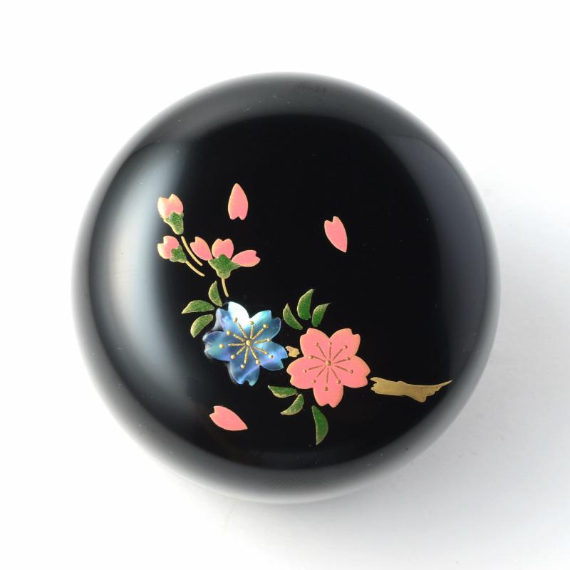 【手元供養】【ミニ骨壷】現代漆・モダン骨壷 Cocoroこころ 想桜(おもいざくら)