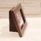 ミニ骨壷の納まる写真立て メモリアルフォトスタンド [ウッドライン][手元供養]