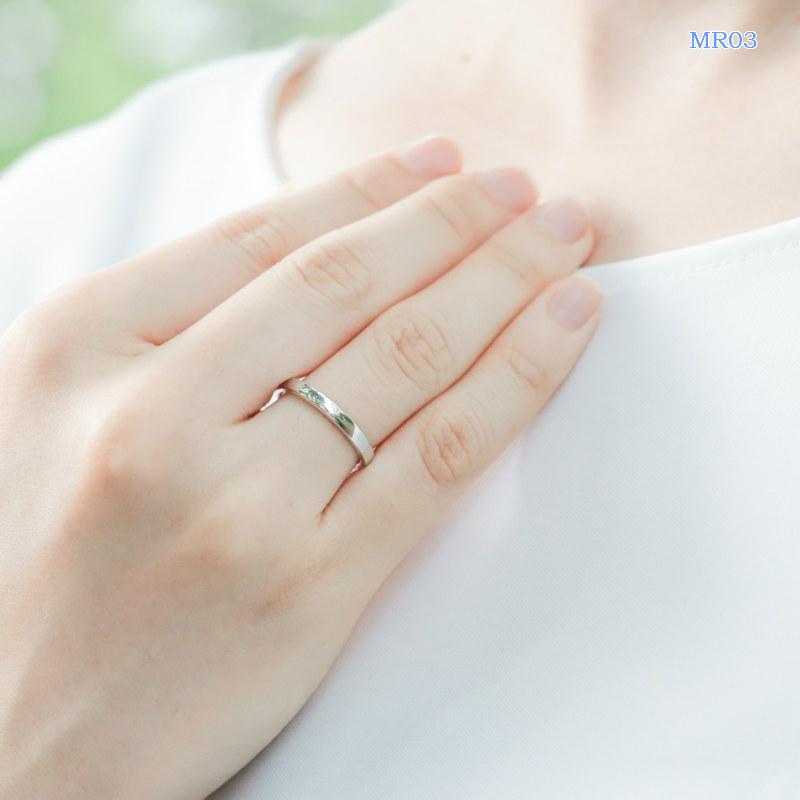 セミオーダーメモリアルリング【MR03/Pt900 プラチナ】指輪,遺骨,完全防水