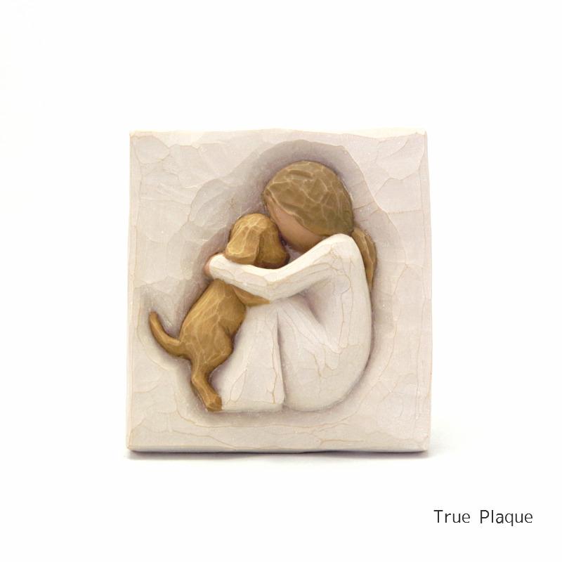メモリアルオブジェ 飾りプレート True Plaque 〜真実〜 犬 willowtree 【ペット骨壷,遺骨ペンダント,ペット仏壇と共に】
