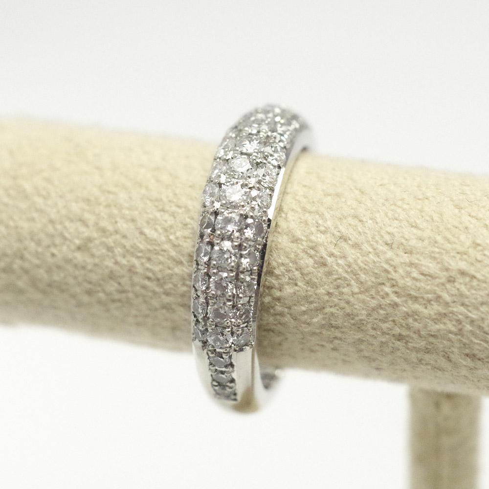 [完全防水]  遺骨を納める指輪 メモリアルリング LJR11C(ダイヤモンドパヴェ) [素材:K18イエローゴールド]