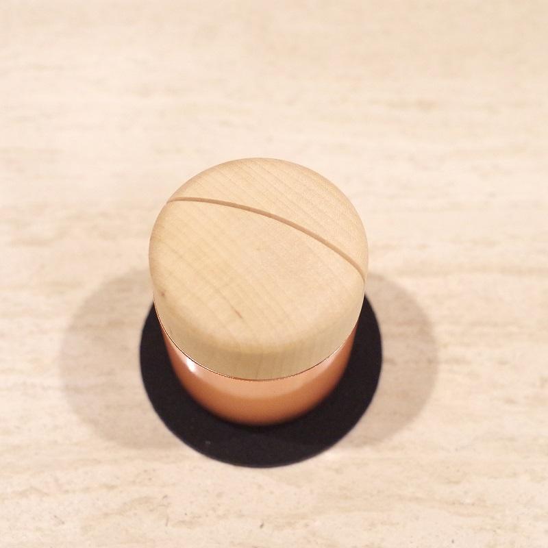 メモリアルポットとフォトフレームが一緒になった、Sottoシリーズミニ骨壷 ピクチュアリ シリンダ ピンクゴールド