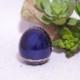 手元供養用の小さなミニ骨壷 オシャレでかわいいたまご型・日本製高岡仏具 ミニ骨壷「玉慈」(ぎょくじ) カラー:紫紺
