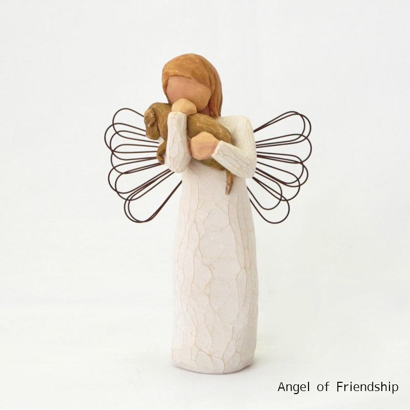 メモリアルオブジェ Angel of Friendship 〜愛しい天使そして友達〜 犬 Willow Tree 【ペット骨壷,遺骨ペンダント,ペット仏壇と共に】