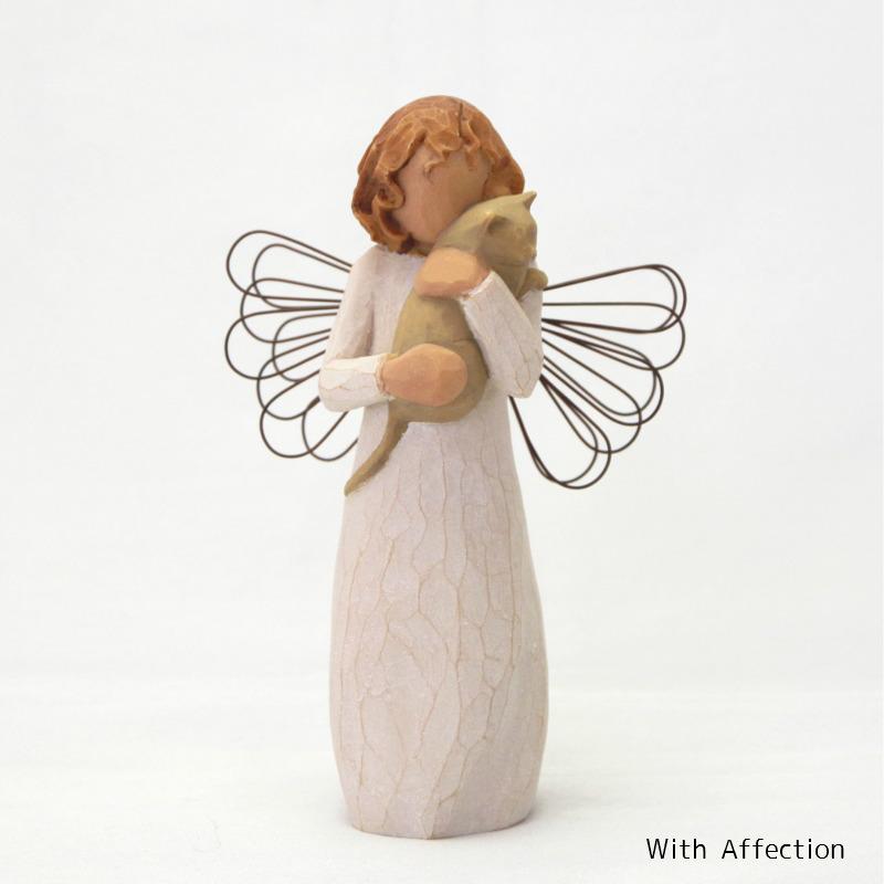 メモリアルオブジェ With Affection 〜やさしい心のつながり〜 猫 Willow Tree 【ペット骨壷,遺骨ペンダント,ペット仏壇と共に】
