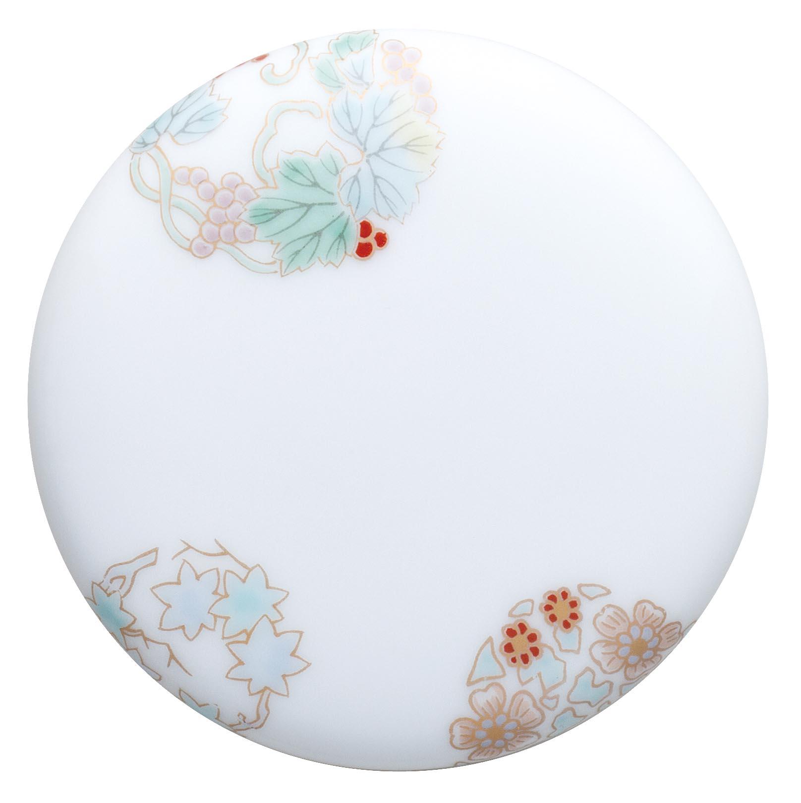 【骨壷】深川製磁 想い合子 姫丸紋(ひめまるもん) わかくさ ミニ骨壷・納骨袋付