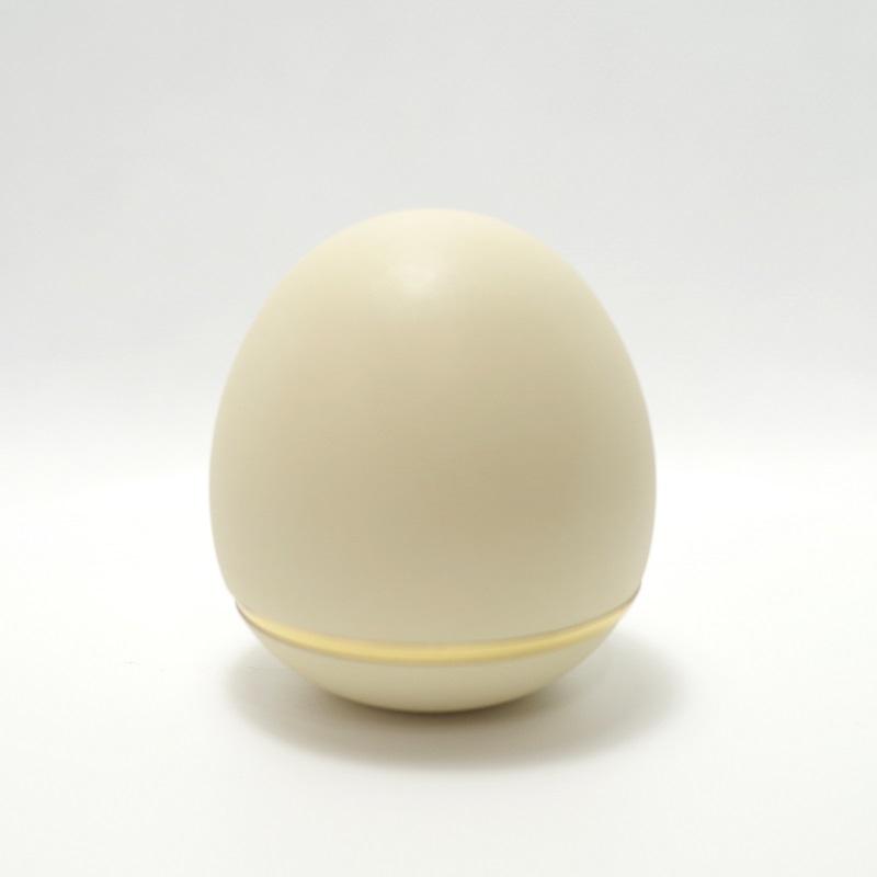 手元供養用の小さなミニ骨壷 オシャレでかわいいたまご型・日本製高岡仏具 ミニ骨壷「玉慈」(ぎょくじ) カラー:パステルイエロー