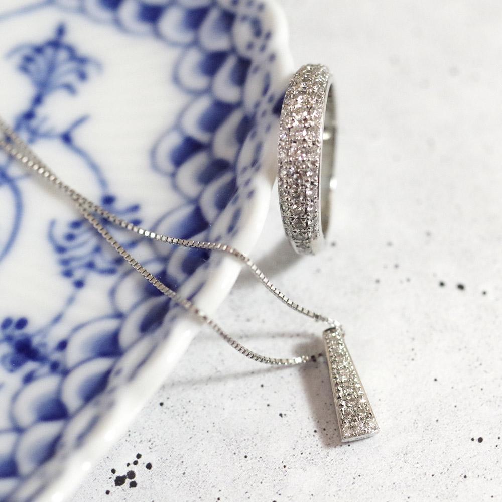 [遺骨ペンダント・樹脂タイプ完全防水]  メモリアルジュエリー LP03-P(Pt900×ダイヤモンド11石)