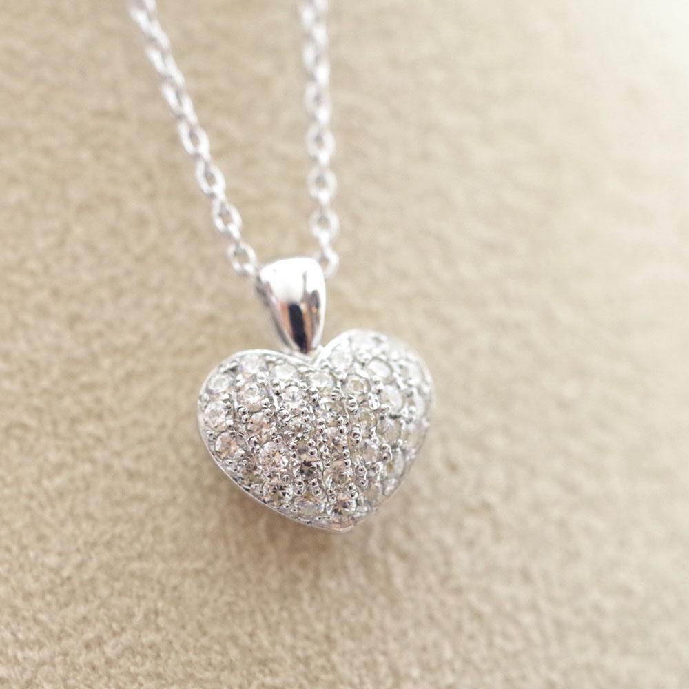 ソウルジュエリー パヴェ プチハート (K18RG ローズゴールド×ダイヤモンド33石) 手元供養・遺骨ペンダント