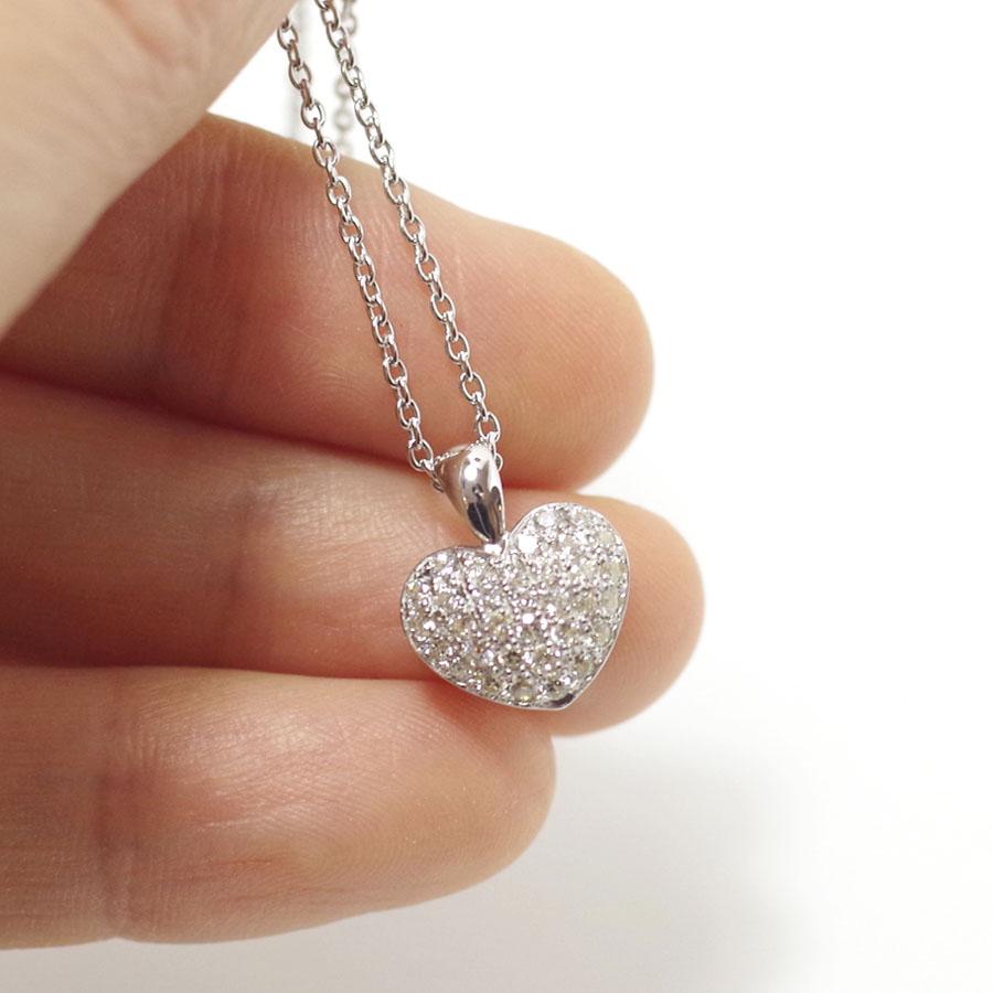 ソウルジュエリー パヴェ プチハート (Pt900 プラチナ×ダイヤモンド33石) 手元供養・遺骨ペンダント