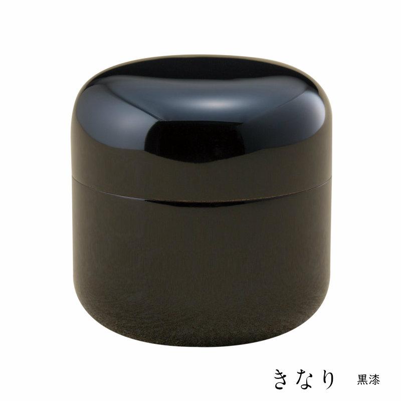 【ミニ骨壷】【手元供養】桜木大容量の本漆骨壷<br> 「きなりシリーズ」 黒漆 名入れ可
