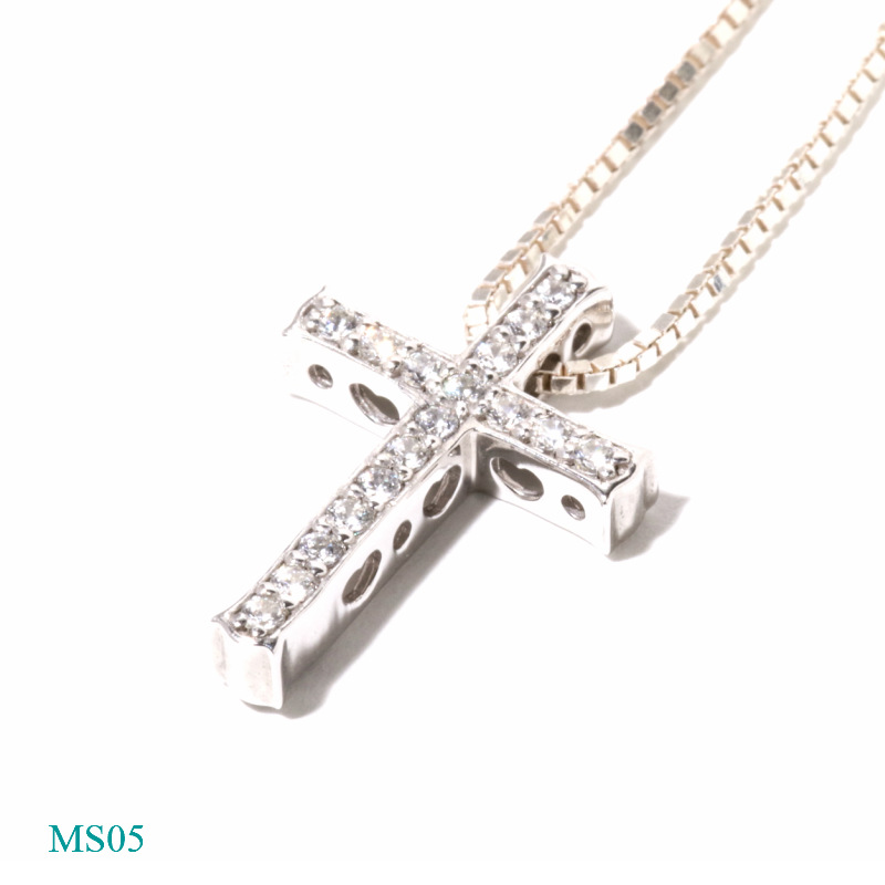 [遺骨ペンダント・樹脂タイプ完全防水]  メモリアルジュエリーMS05 【K18YG/メレーダイヤ17石】